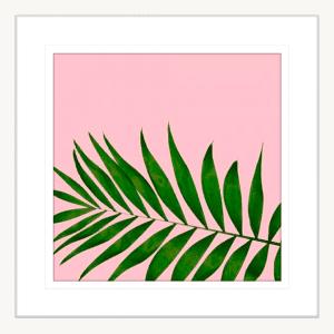 Miami Vibe 02 | White Framed Artwork