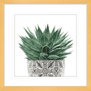 Green Thumb 01 | Oak Framed Artwork