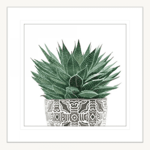 Green Thumb 01 | White Framed Artwork