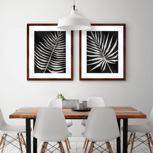 Palm Frond on Wood | Artwork Styled Room
