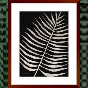 Palm Frond on Wood 01 | Teak Framed Artwork