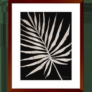 Palm Frond on Wood 02 | Teak Framed Artwork