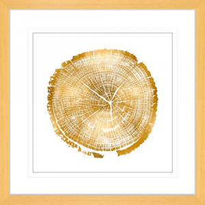 Timber Gold 01 | Oak Framed Artwork