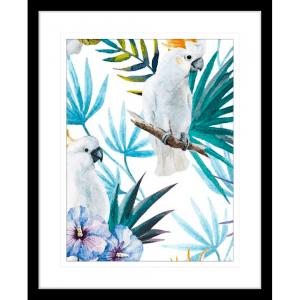 Crested Cockatoo 01 | Black Framed Artwork