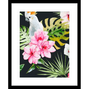 Crested Cockatoo 02 | Black Framed Artwork