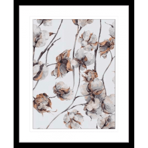Cotton Harvest 01 | Black Framed Artwork