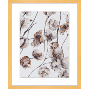 Cotton Harvest 01 | Oak Framed Artwork