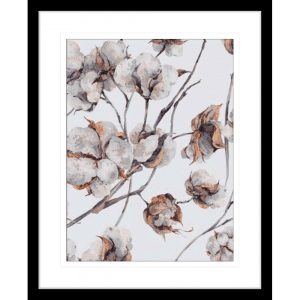 Cotton Harvest 02 | Black Framed Artwork