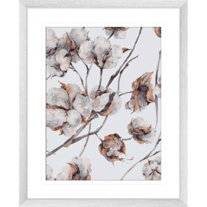 Cotton Harvest 02 | Silver Framed Artwork