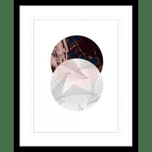 Abstract Circle | Black Framed Artwork