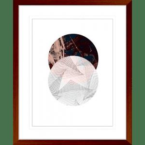 Abstract Circle | Teak Framed Artwork