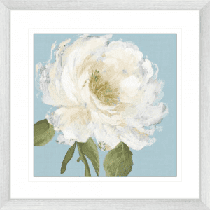 Flowers by the Sea 01   Silver Framed Artwork