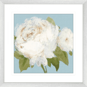 Flowers by the Sea 02   Silver Framed Artwork