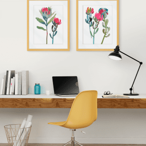 Spring is Purple | Artwork Styled Room