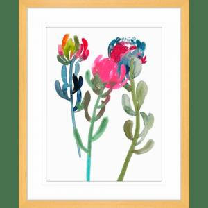 Spring is Purple 01 | Oak Framed Artwork