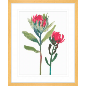 Spring is Purple 02 | Oak Framed Artwork
