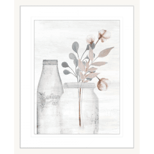 Wildflower Hope 01 | White Framed Artwork