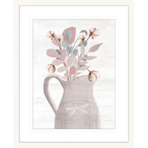 Wildflower Hope 02 | White Framed Artwork