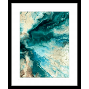 Neo Teal 02 | Black Framed Artwork