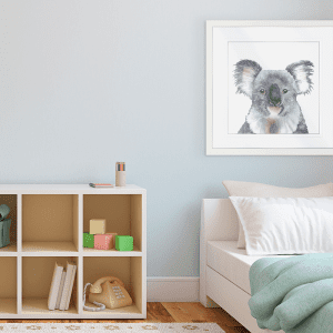 Koala Gaze | Artwork Styled Room
