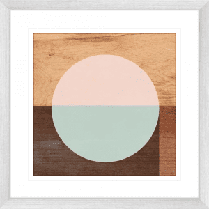 Mod Peace 01 | Silver Framed Artwork