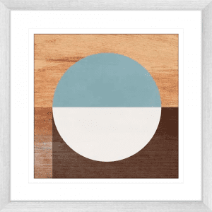 Mod Peace 02 | Silver Framed Artwork