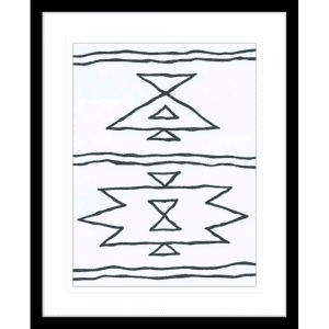 Angular Tapestry 01 | Black Framed Artwork