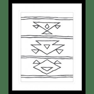 Angular Tapestry 02   Black Framed Artwork