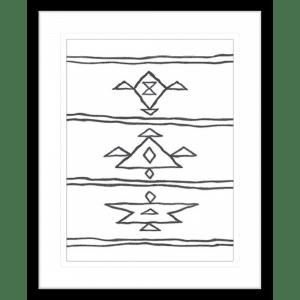 Angular Tapestry 03   Black Framed Artwork