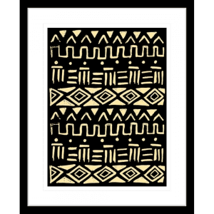 Wood Tribe 01 | Black Framed Artwork