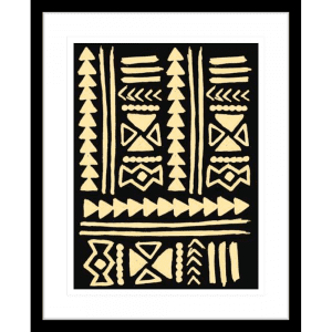 Wood Tribe 02 | Black Framed Artwork