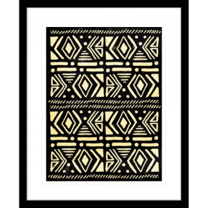 Wood Tribe 03 | Black Framed Artwork