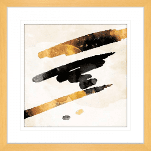Line Dots 01 | Oak Framed Artwork