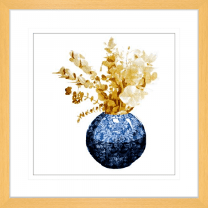 China Vase with Floral 02 | Oak Framed Artwork