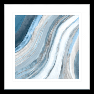 Silver Agate 01 | Black Framed Artwork