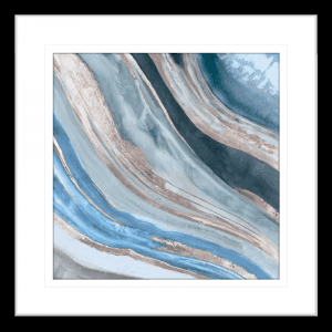 Silver Agate 02 | Black Framed Artwork
