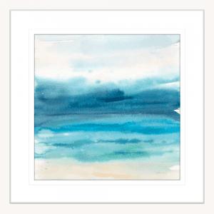 Indigo Seascape I | White Framed Artwork