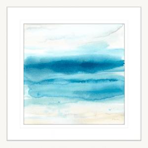 Indigo Seascape II | White Framed Artwork