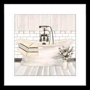 Farmhouse Washroom 01 | Black Framed Artwork
