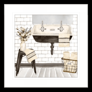Farmhouse Washroom 02 | Black Framed Artwork