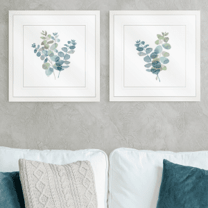 Natural Inspiration Blue Eucalyptus | Artwork Styled Room