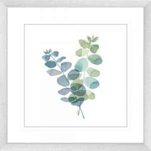 Natural Inspiration Blue Eucalyptus 01 | Silver Framed Artwork