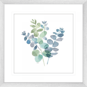 Natural Inspiration Blue Eucalyptus 02 | Silver Framed Artwork