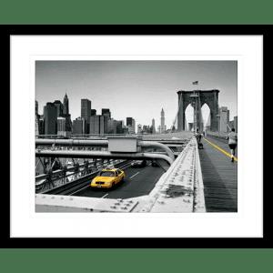 Big Yellow Taxi | Black Framed Artwork