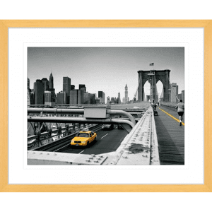 Big Yellow Taxi | Oak Framed Artwork