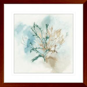 Green Coral 02 | Teak Framed Artwork