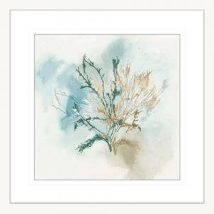 Green Coral 02 | White Framed Artwork