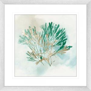 Green Coral 03 | Silver Framed Artwork