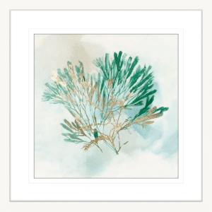 Green Coral 03 | White Framed Artwork