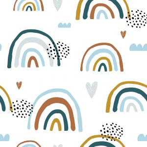 Earthchild Rainbows Brooklyn | Wallpaper Swatch